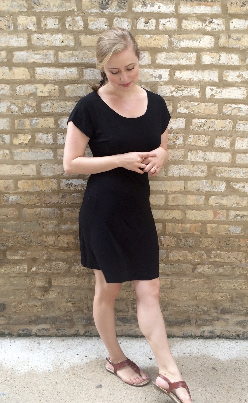 Black Organic Knit Bamboo Dress