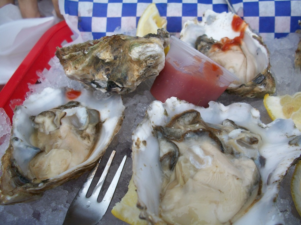 The greatest oysters of my life  . It must also be noted that I saw the adorable 22-year-old John Cusack doppleganger of any girl's dreams in Oregon, too. You should find him and make him yours.