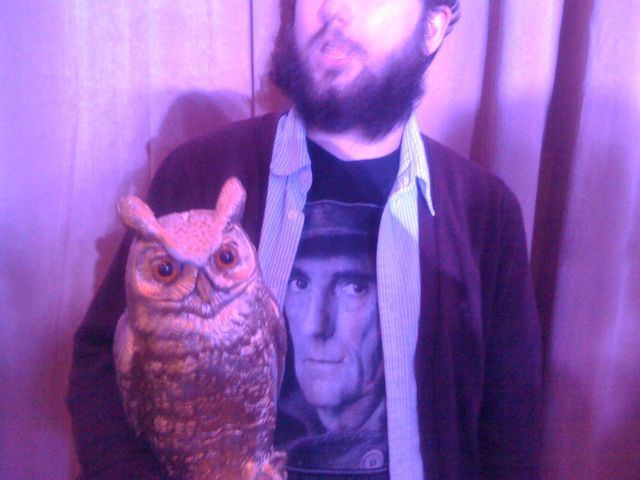 "hunterstephenson :     we're at the [adult swim] upfront stealing owls and gold chocolate coins      Reblog because it's a Harry Dean Stanton t-shirt. That's a case - it's rare - where I think you can wear someone else's face on your shirt. I hope someday Harry Dean Stanton does a Broadway show, Elaine Stritch-style, called ""A Night With Harry Dean Stanton"" where he just tells stories. Hearing him talking about telling the kid in Paris, Texas to fuck off, ""because I don't talk down to children"" on the Criterion extras is possibly the funniest thing ever. Also I think there was a period where he and Owen Wilson were crashing parties? Together?"