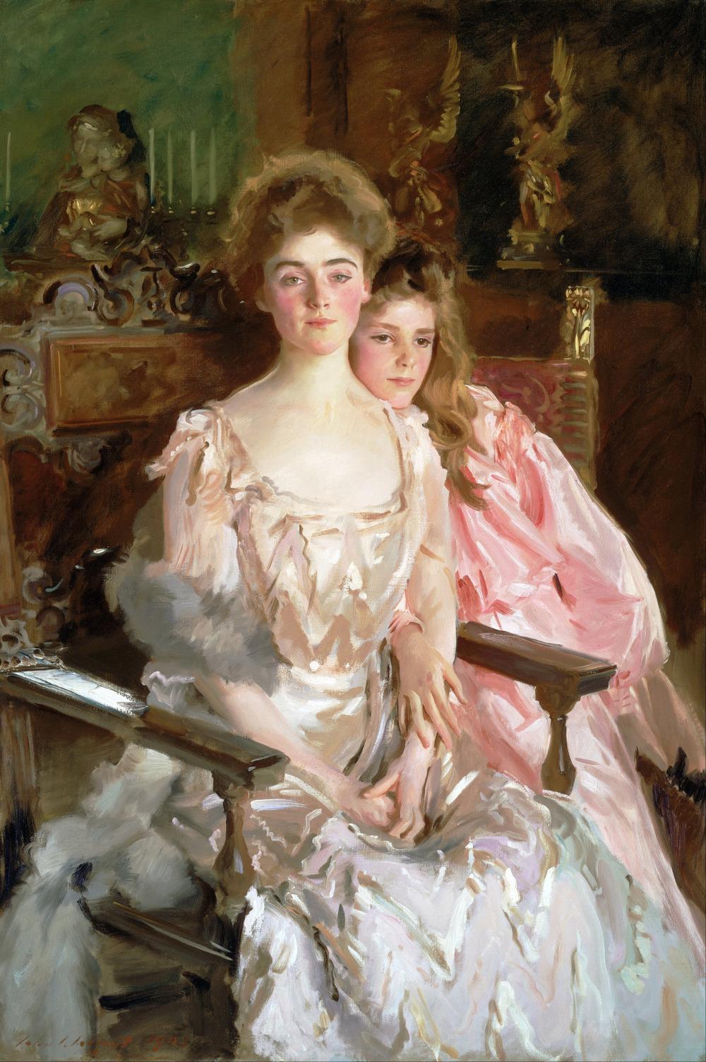 masterpiecedaily :     John Singer Sargent   Mrs Fiske Warren and Her Daughter Rachel   1903
