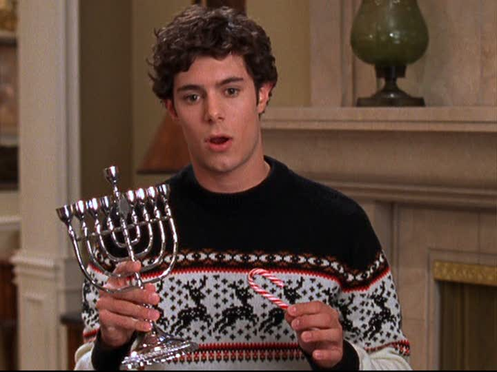 """Merry Chrismukkah! I used to just celebrate Christmas and now I celebrate both, I think, as a Kristen Cohen, let's say; it's an interesting blending of cultures that has mostly yielded me being more into cheesy Christmas stuff because """"it's my tradition,"""" which is silly."""