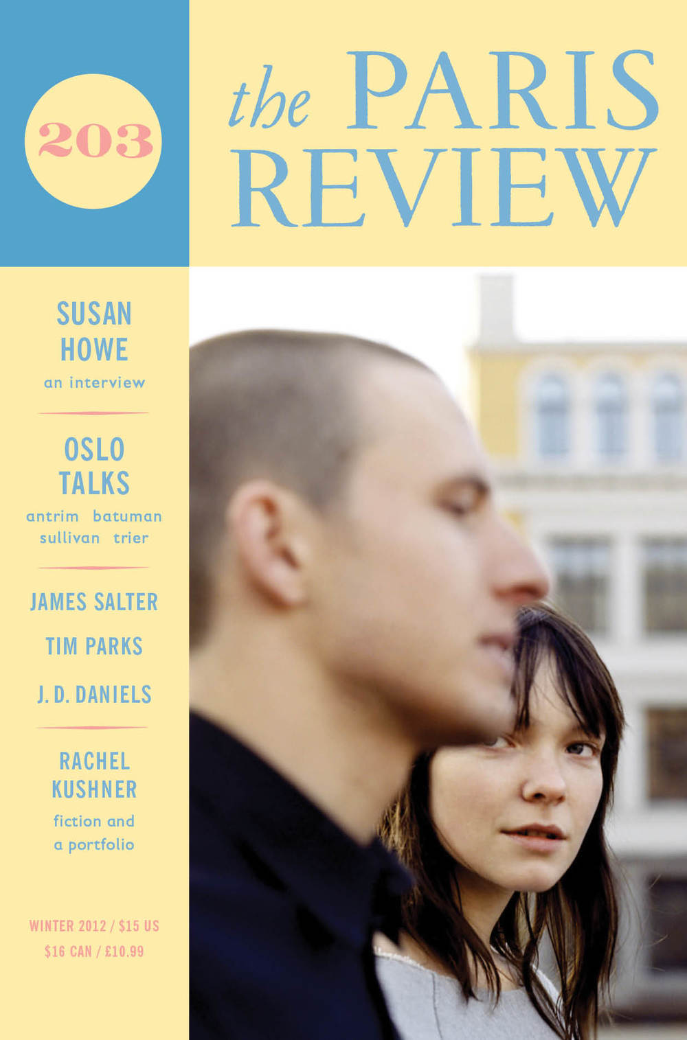"""theparisreview :       Announcing our Winter issue !    Susan Howe on the art of poetry: """"I often think of the space of a page as a stage, with words, letters, syllable characters moving across."""" And discussion excerpts from the  First Annual Norwegian-American Literary Festival , including Donald Antrim, Elif Batuman, Graywolf publisher Fiona McCrae, and Norwegian filmmaker Joachim Trier.   New fiction from  James Salter ,  Rachel Kushner ,  Sarah Frisch ,  Tim Parks ,  Peter Orner , and the winner of the  NPR Three-Minute Fiction Contest , and an essay by J.D. Daniels .   Poems by Ben Lerner, Linda Pastan, Devin Johnston, Yasiin Bey, Geoffrey Hill, Regan Good,  Joshua Mehigan , and Steven Cramer. A  portfolio of images  that inspired Rachel Kushner's novel The Flamethrowers .    Subscribe now !     Really into this,   obviously  . (You haven't seen   Reprise  ? It's streaming online.)"""