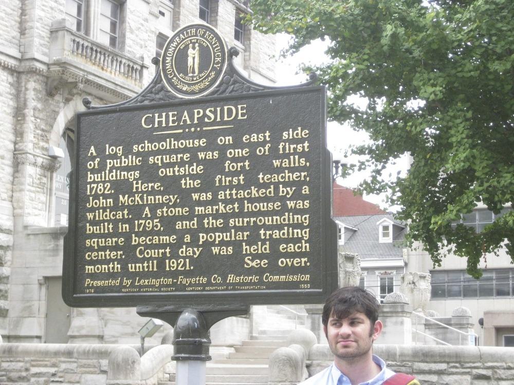 A real sign in Lexington, Kentucky.
