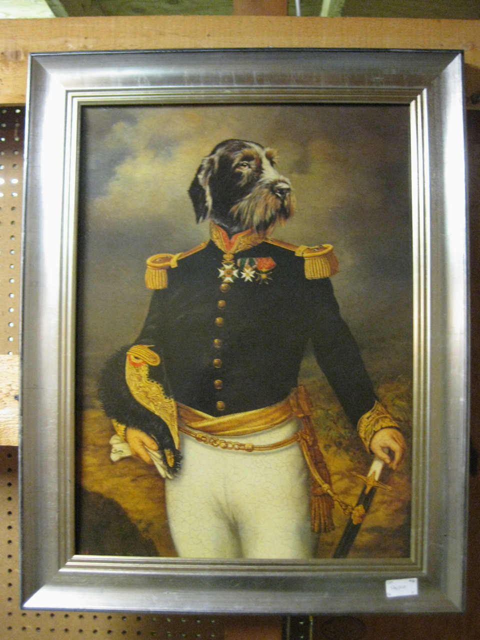 This dog painting costs $250.00. Can you believe that? (photo by   Stu Sherman  )