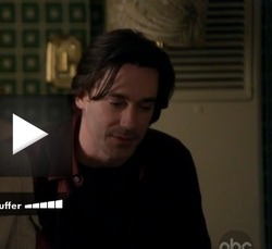 "HORRIFIC HAMM HAIR! I am firmly in the camp that Jon Hamm as Don Draper = YES! Jon Hamm without the Brycleem = handsome but wouldn't necessarily. This is proof. (What About Brian, 1.5 ""What About Secret Lovers?"" screencap)"