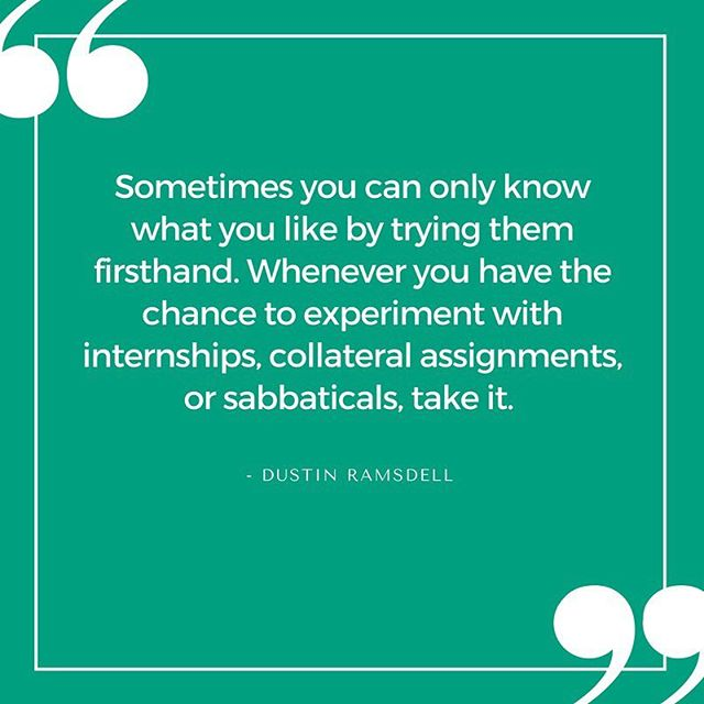 In order to figure out what you want to do, you must experience and try different things. Whether that's through internships or other opportunities, take advantage of them, and gain as much hands on experience as possible! #experiences #tryingnewthings