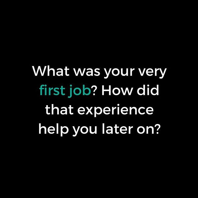 Happy Monday! Do you remember your #firstjob? What was it? Did you enjoy it? Did you learn valuable new skills that you added to your skill set? How has your first job impacted the person you are today?