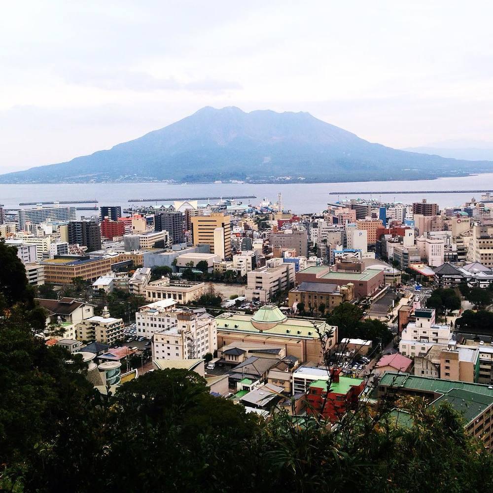 Kagoshima in the shadow of a volcano