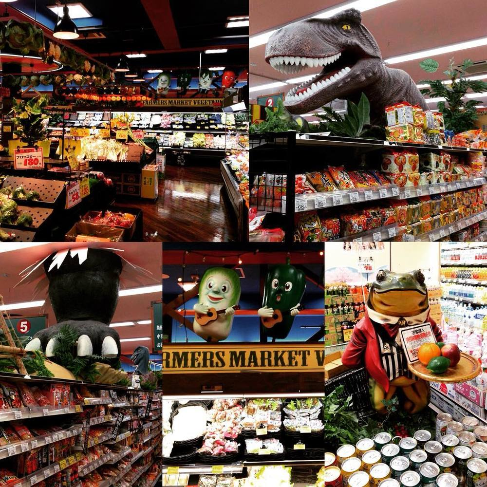 Dinosaurs, frogs and dancing vegetables in Red Cabbage Supermarket