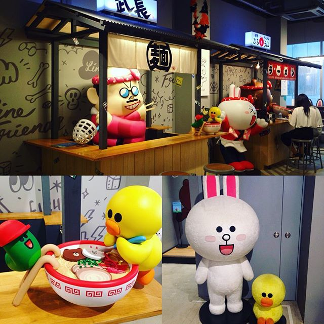 Loving the line cafe in Tenjin 👌🏽 #fukuoka #linefriends #tenjin #kawaii