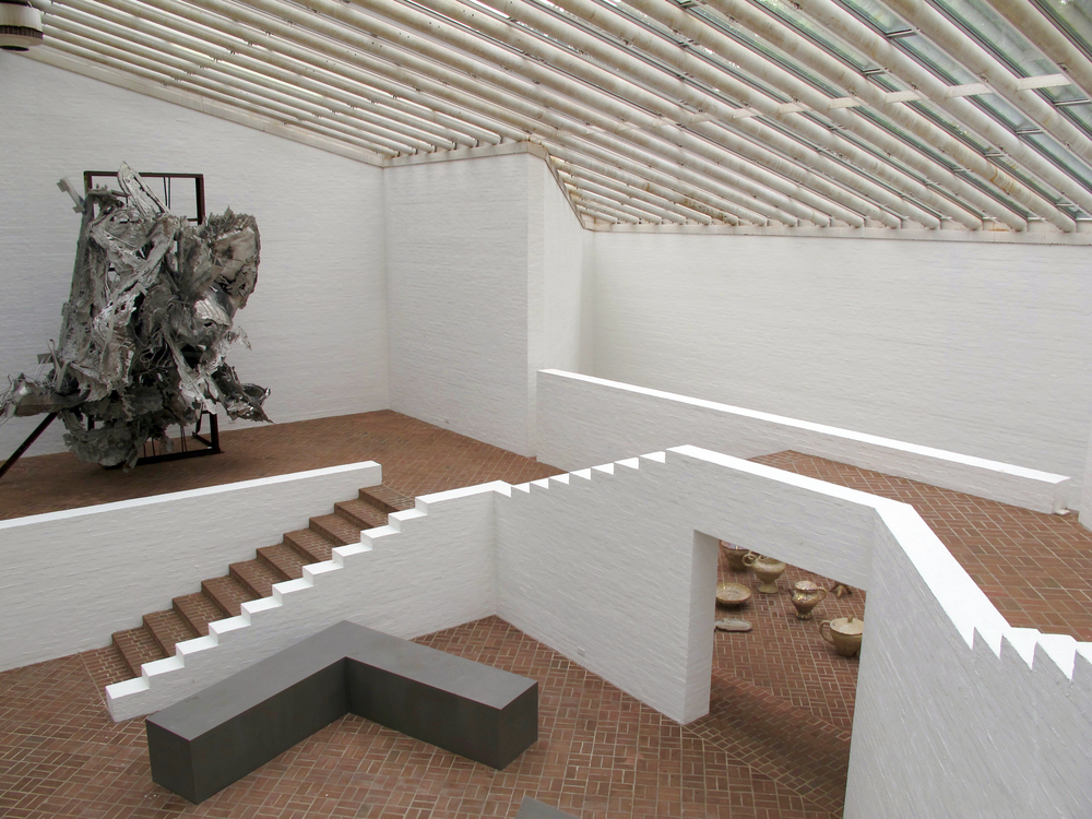 Sculpture Gallery Inspiration for the interior came from Greek island villages marked by their many stairways.