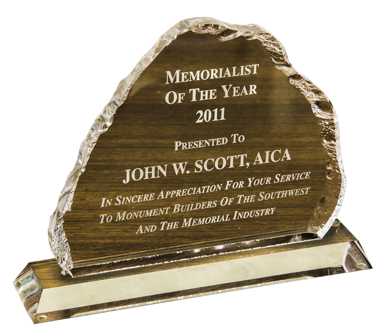 Memorialist of the Year Award