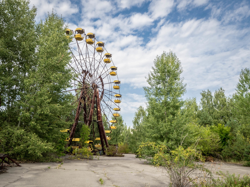 The Pripyat fairground, open for 1 day before the disaster struck.