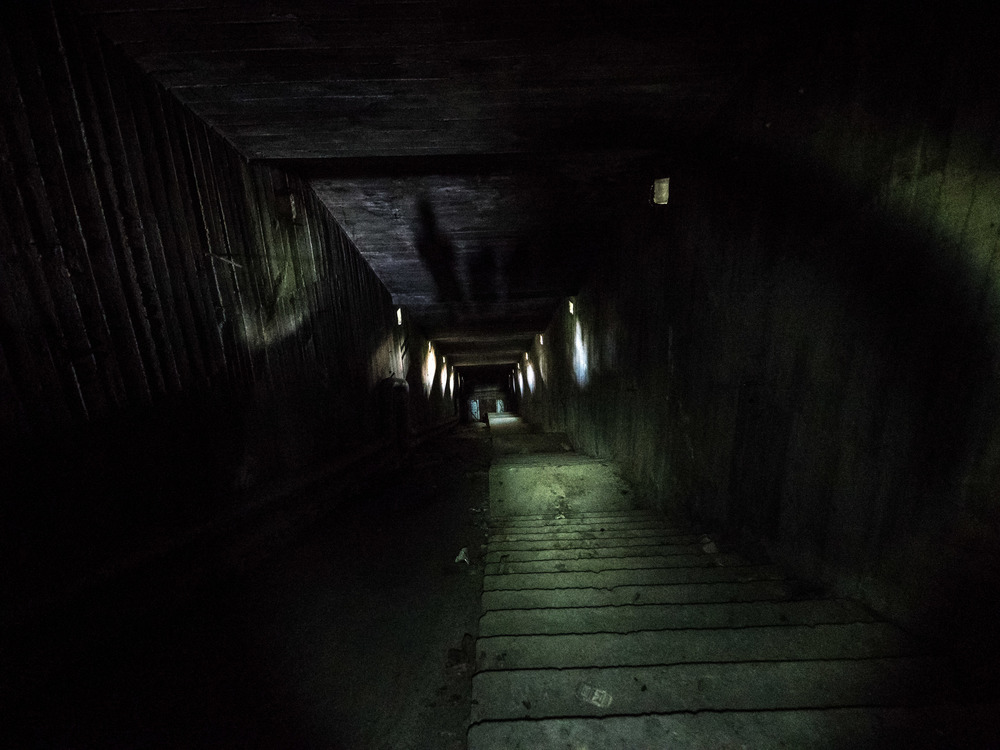 The tunnel which apprarently leads down to a nuclear bunker. unfortunately the doors at the end are welded shut...