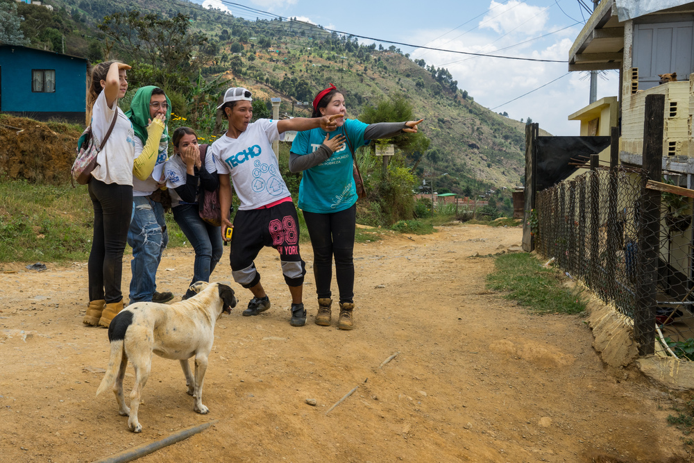 The young Colombian volunteers are full of energy and love what they do