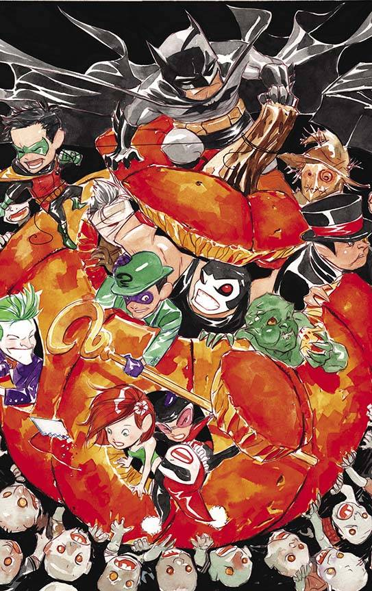 BATMAN LIL GOTHAM BATMAN DAY 2018 #1 SPECIAL ED By Dustin Nguyen & Derek Fridolfs   First, Robin needs Batman's help to learn the true meaning of Halloween. Then, on Thanksgiving, Batman and Robin join the families of Gotham City around the table for a holiday feast-and birds of a feather flock together to stage a march against the city...led by The Penguin!