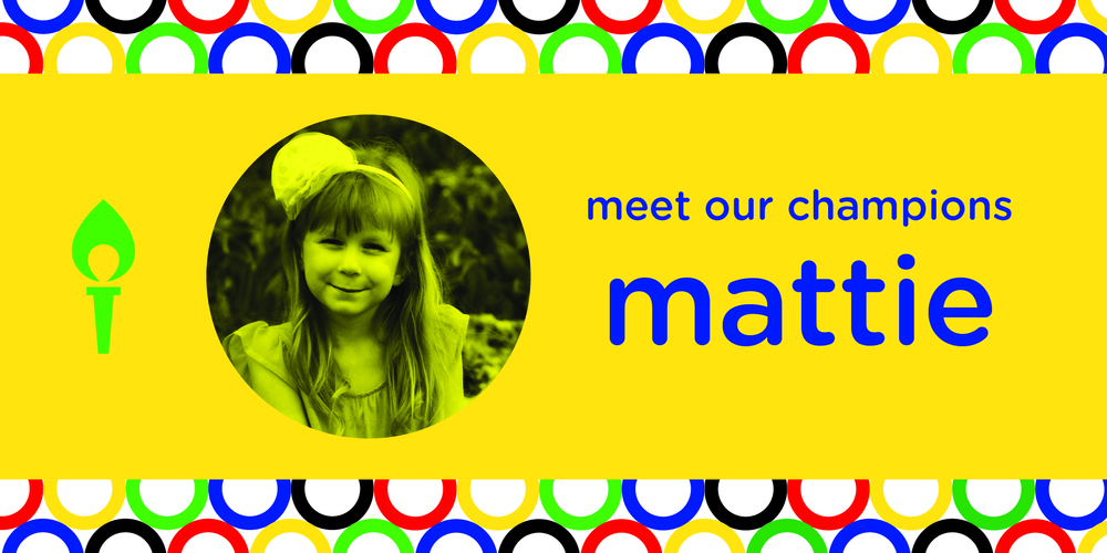 Meet our first champion, Mattie! Mattie is 5 years old and has the most loving spirit around. Her favorite animal is a dog and she loves the color pink! Mattie is the example of a true miracle. When she was born in 2011 she was diagnosed with a congenital diaphragmatic hernia.  She has undergone many surgeries and had to spend her first birthday in the hospital. Since then she has been diagnosed with scoliosis, due to her organs developing in her chest, and has had two more diaphragmatic hernias. She is being monitored very closely and receives the best care possible at the Children's Hospital in OKC. She even wants to be just like her doctor when she grows up!