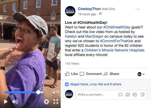 Visit our Facebook page to view this live feed!