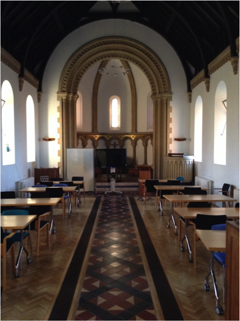 Jenny Lind Chapel set up for Business School
