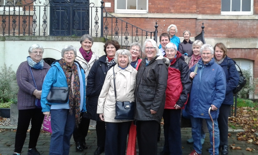 "A visit from Hereford and Worcester's group of Growing Old Disgracefully in 2015. ""It was such an interesting insight into medicine in Worcester which we never knew about..."""