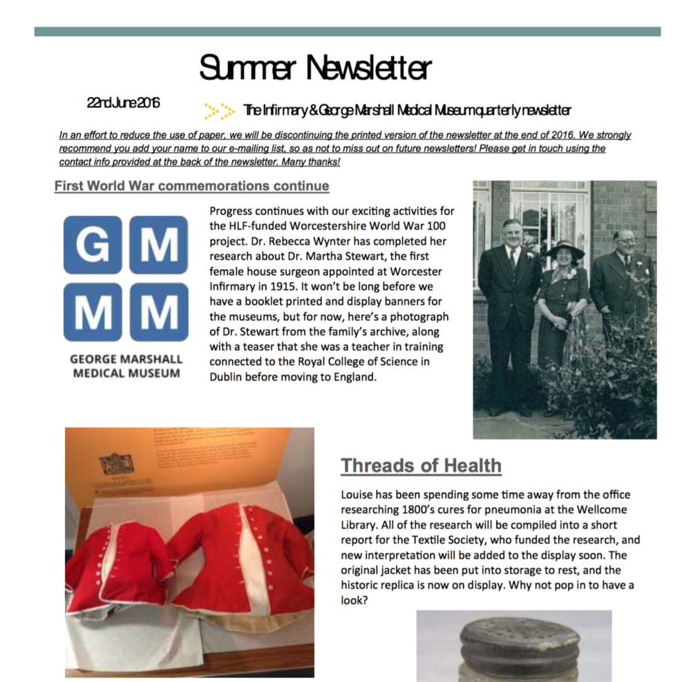 Summer 2016 Newsletter