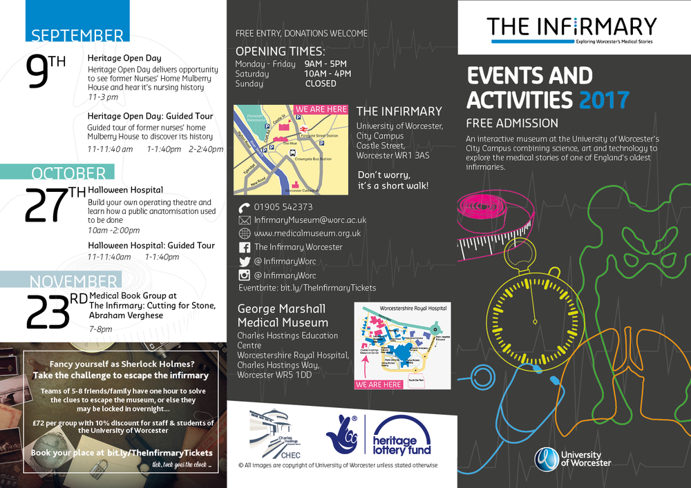 The Infirmary Museum Events leaflet for 2016