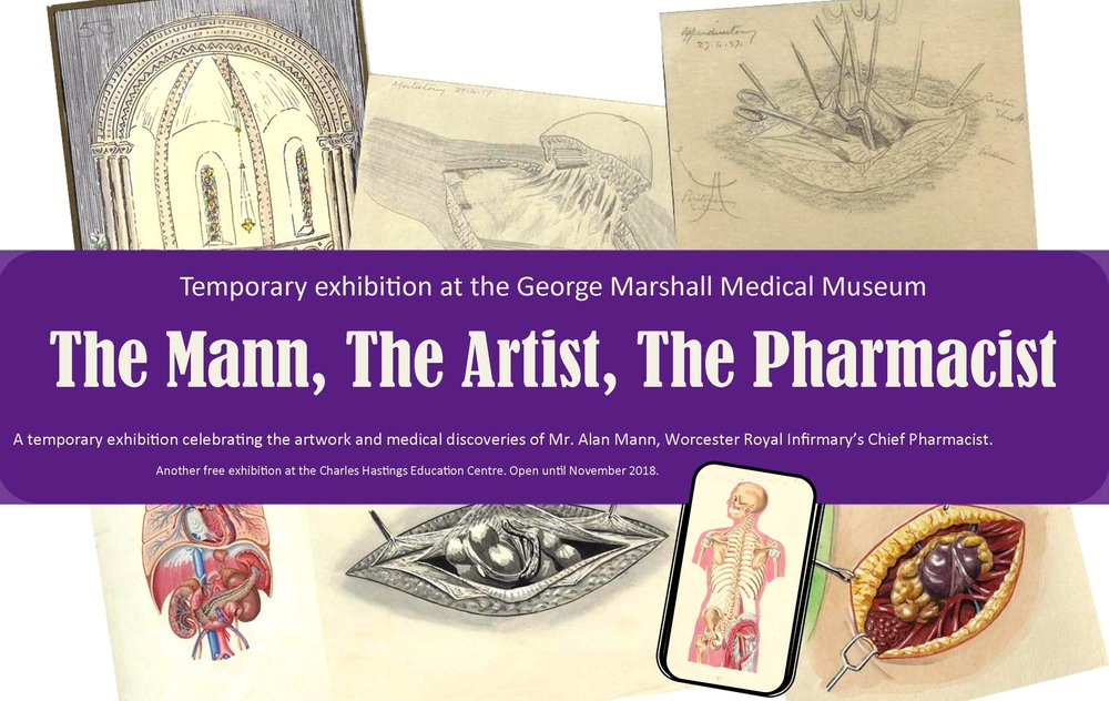 The Mann, The Artist, The Pharmacist, until November 2018  Click on this image to be taken to our online pages, specially created for this temporary exhibition.
