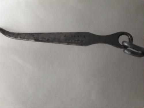 Hook showing the manufacturer 'J Hague. London'