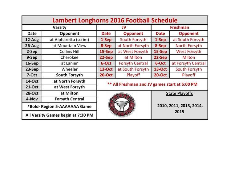 LambertSchedule