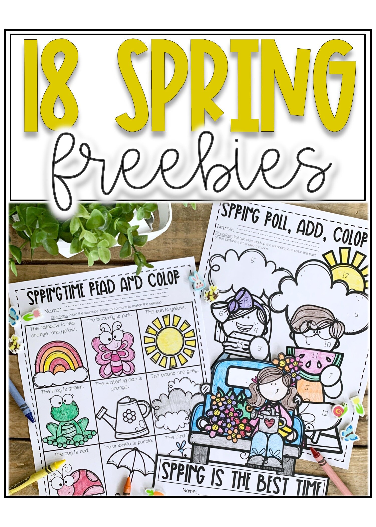 5 Spring Freebies for K 5 Students — Alleah Maree