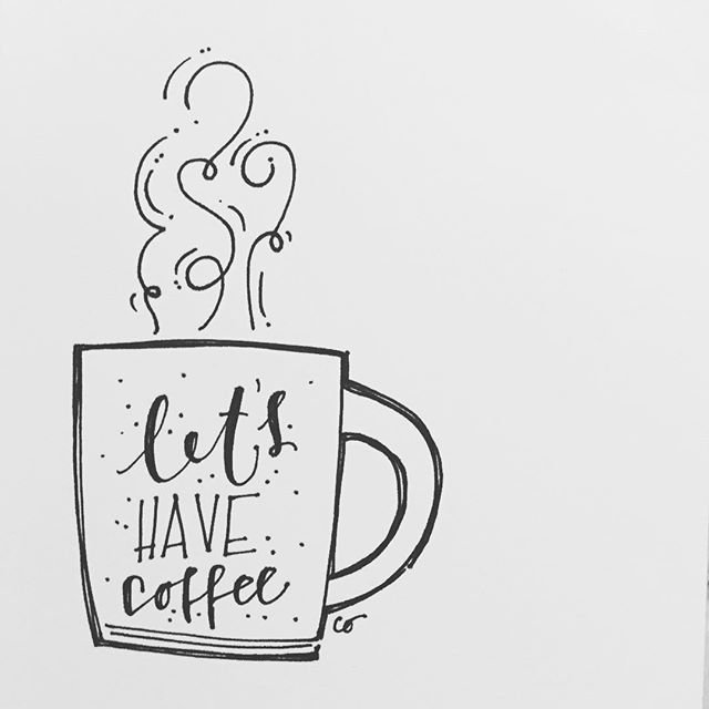 Let's have coffee...YES PLEASE 🙋🏻‍♀️ #coffee #sketch