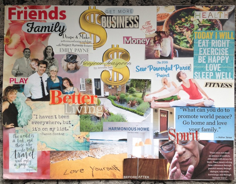 2016 Vision Board by Jennifer Serr