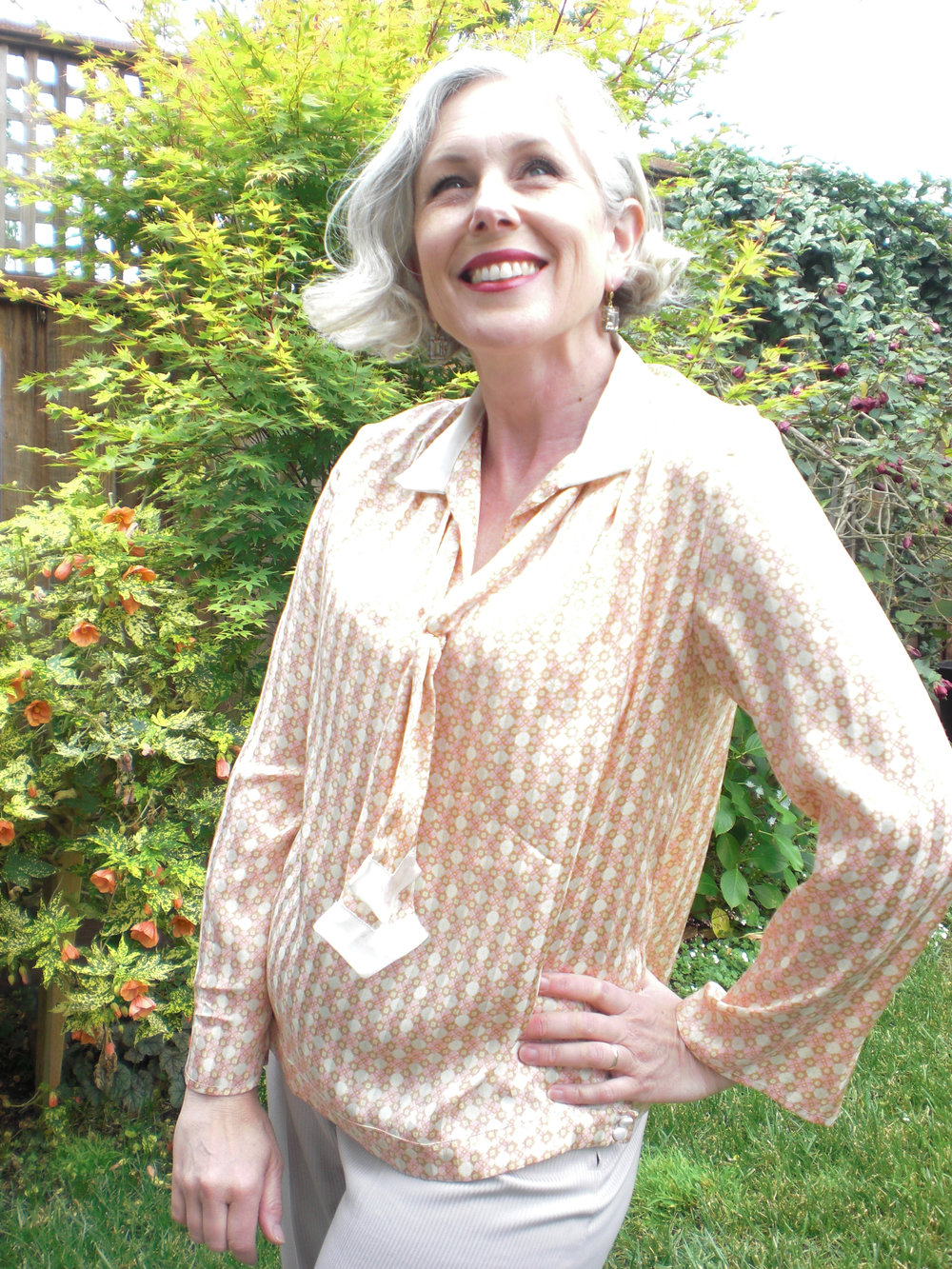 Here is my Finished Blouse 1.  I love it and wear it all the time!
