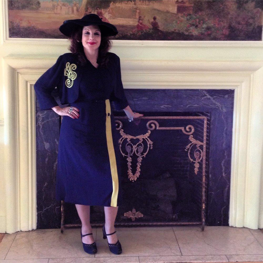 The gorgeous Rose Ellis in a vintage suit!