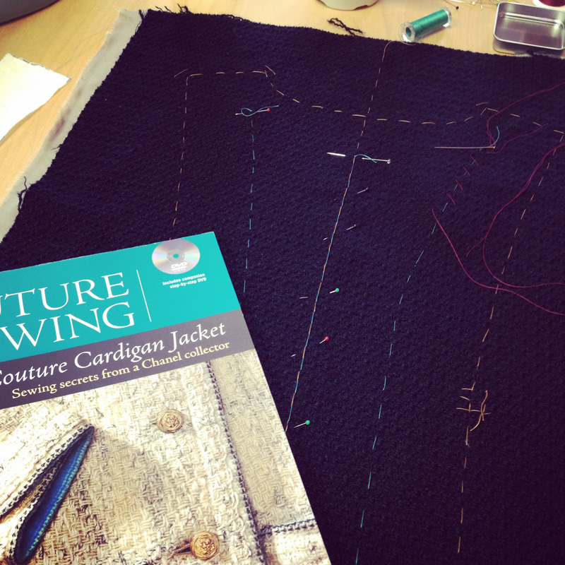 I've been working on my Jacket using the Claire Shaeffer book but I think it might just be time for me to take Susan's online class.