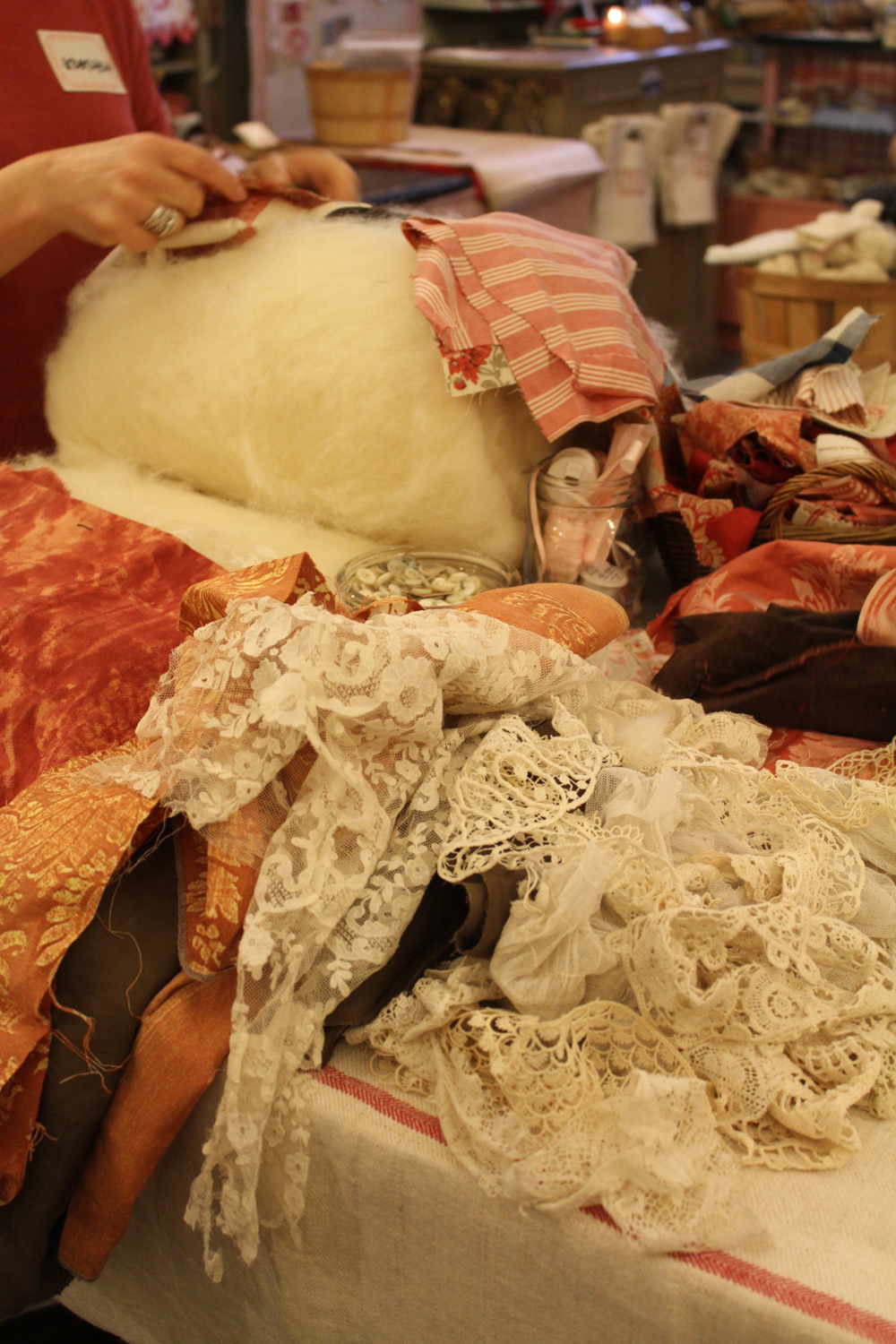 We had so many vintage and antique textiles to choose from