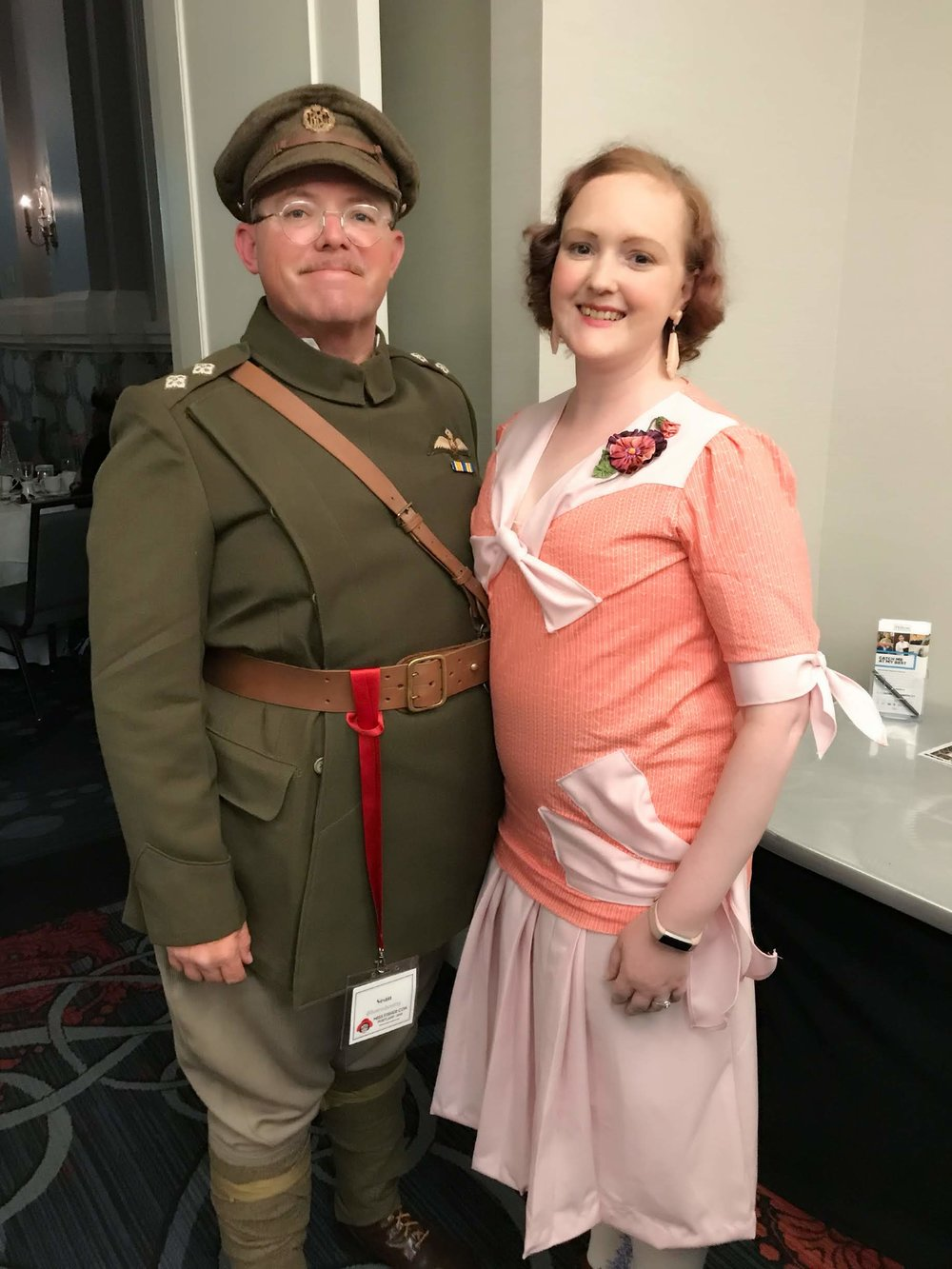 The Beautiful Laura (with Fiancee Sean) who gave the undergarment lectures. You can find her on Instagram as  @winters.lore  and her fiancee  @hotrodsmitty
