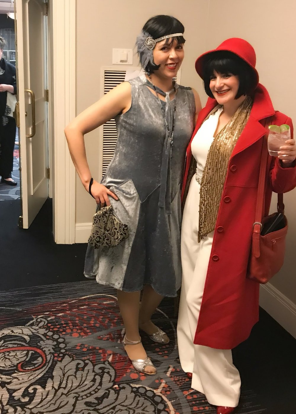 The incredible  Jacquie  and a winning Miss Fisher all in Red.