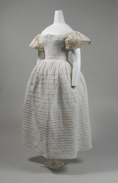 1830s Undergarments from The Metropolitan Museum of Art  Image from  Pinterest