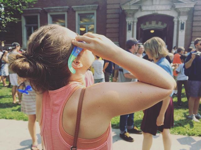 solar eclipse party at the library! . . . #btv #solareclipse #burlington