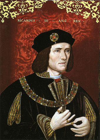 Portrait of Richard III from late 16th century, housed in National Portrait Gallery, London.