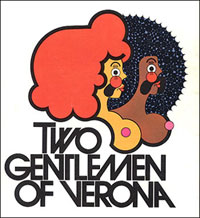 The original theatre poster for the musical from the 1970s.