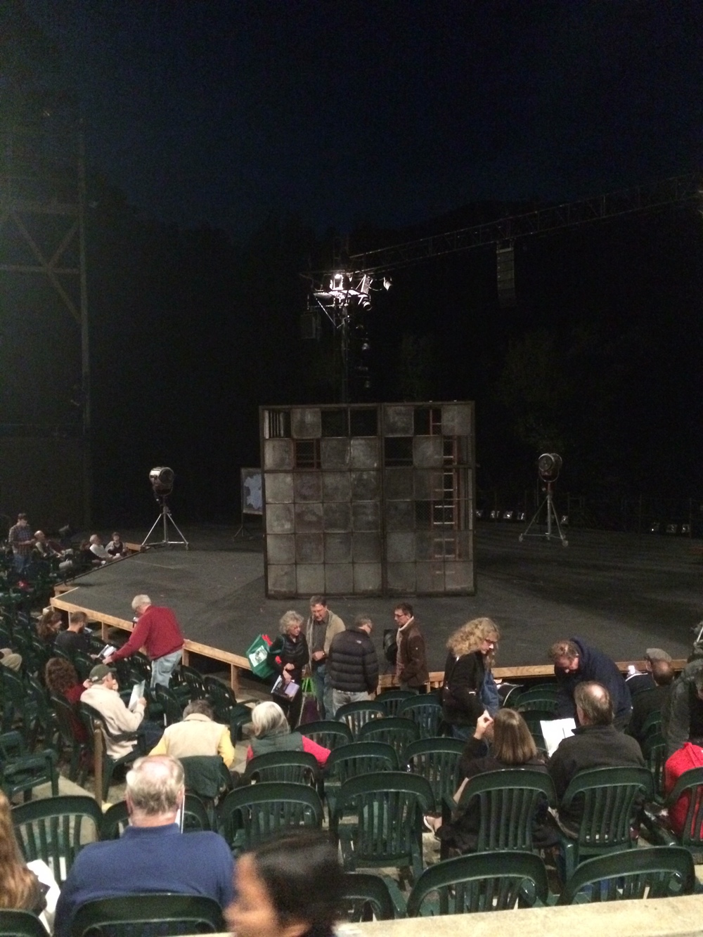 Side view of mysterious set piece box, prior to play starting.