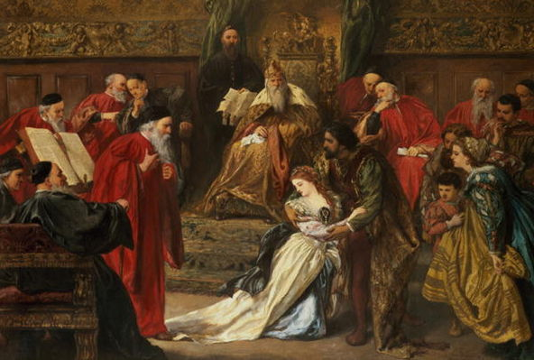 Cordelia in the Court of King Lear (1873) by Sir John Gilbert