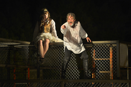 Kjerstine Rose Anderson as the Fool and Anthony Heald as Lear
