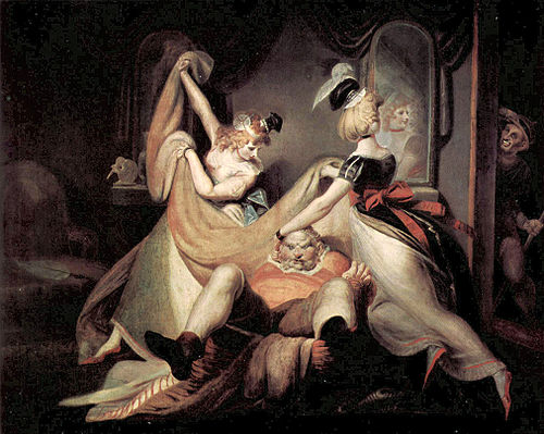 Falstaff in the Washbasket,  by Johann   Heinrich Fussli circa 1792.