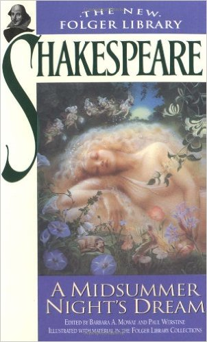This is the very cover that first drew me to give reading Shakespeare a try.  Nothing like lovely fairy art to draw a pre-teen's interest.