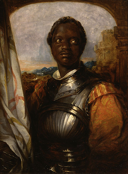 Portrait of Ira Aldridge as Othello,  William Mulready