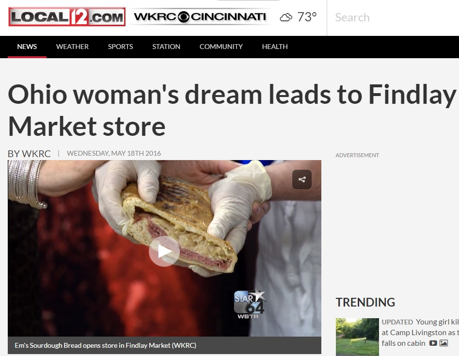 Ohio woman's dream leads to Findlay Market store- BY WKRC Local 12, Cincinnati