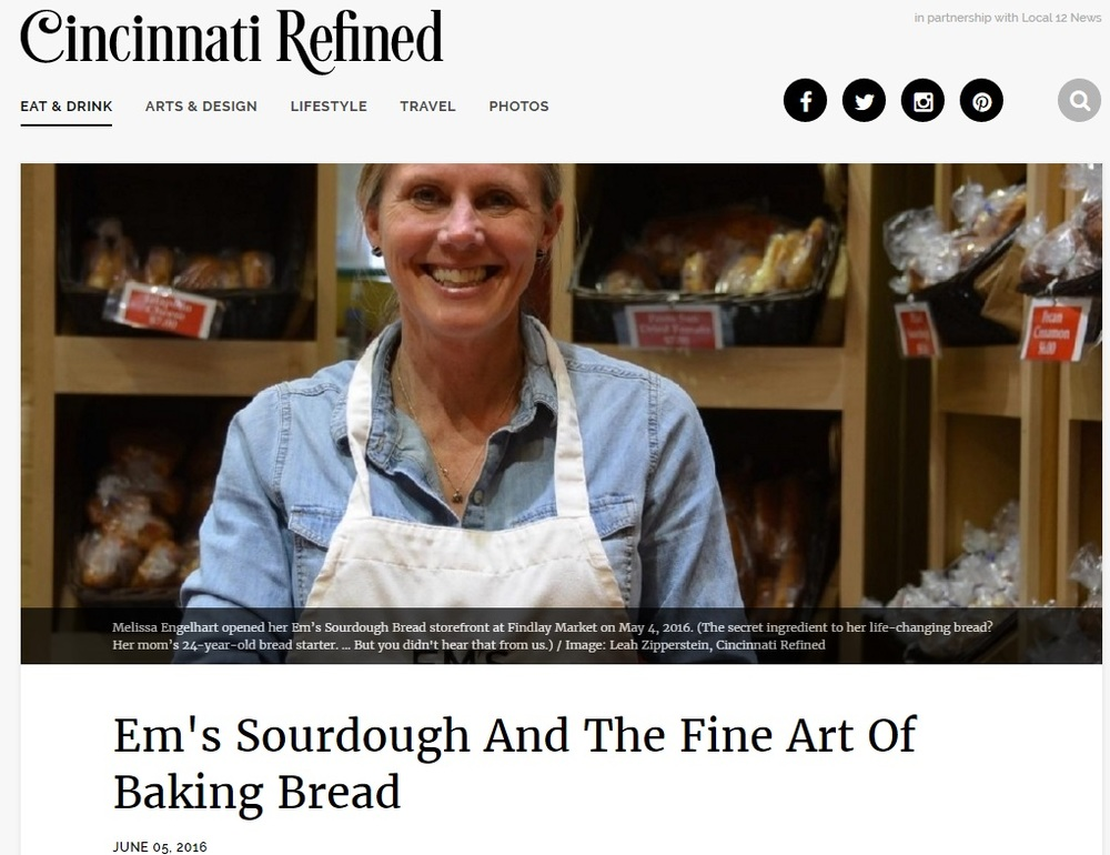 Em's Sourdough And The Fine Art Of Baking Bread-  Published in the Cincinnati Refined, JUNE 05, 2016